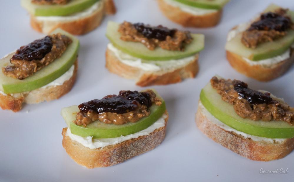 Almond Butter and Fig Bruschetta