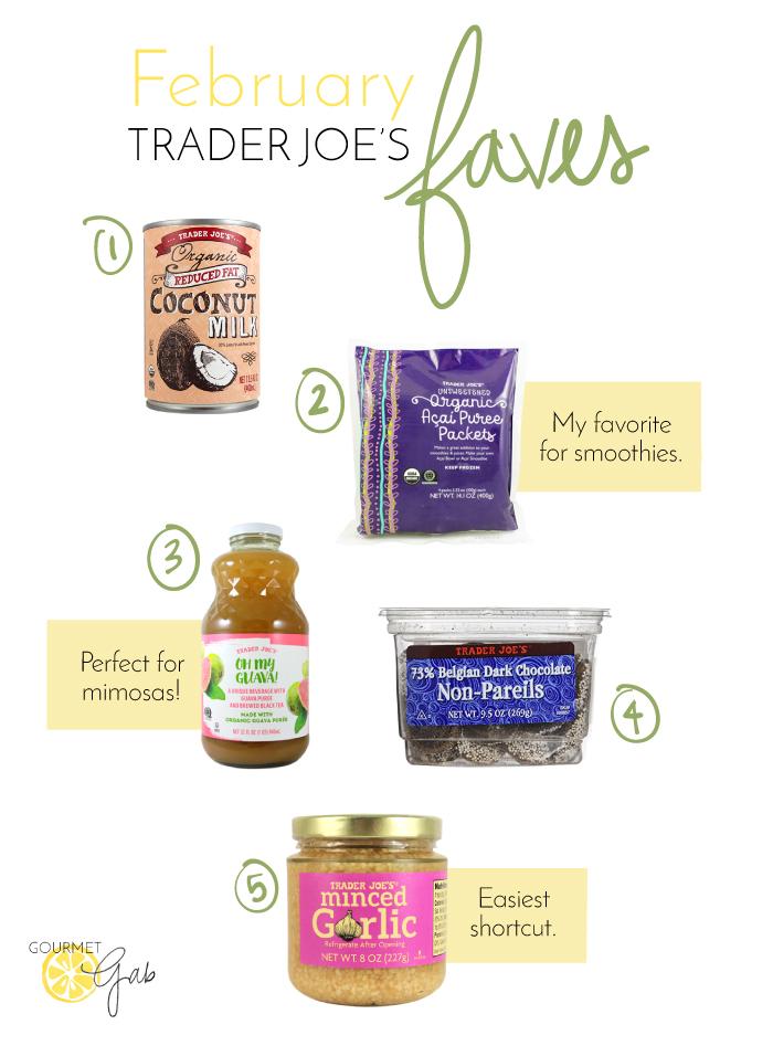 Gourmet Gab Trader Joe's Favorites - February 2017
