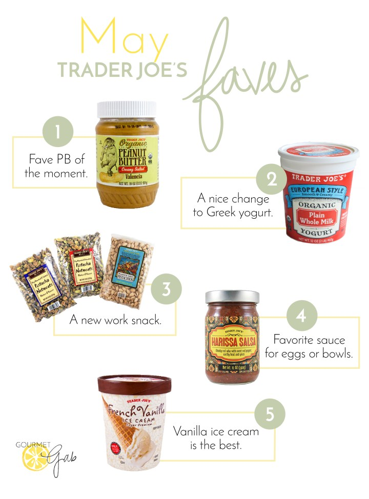 Gourmet Gab May Trader Joe's Favorites