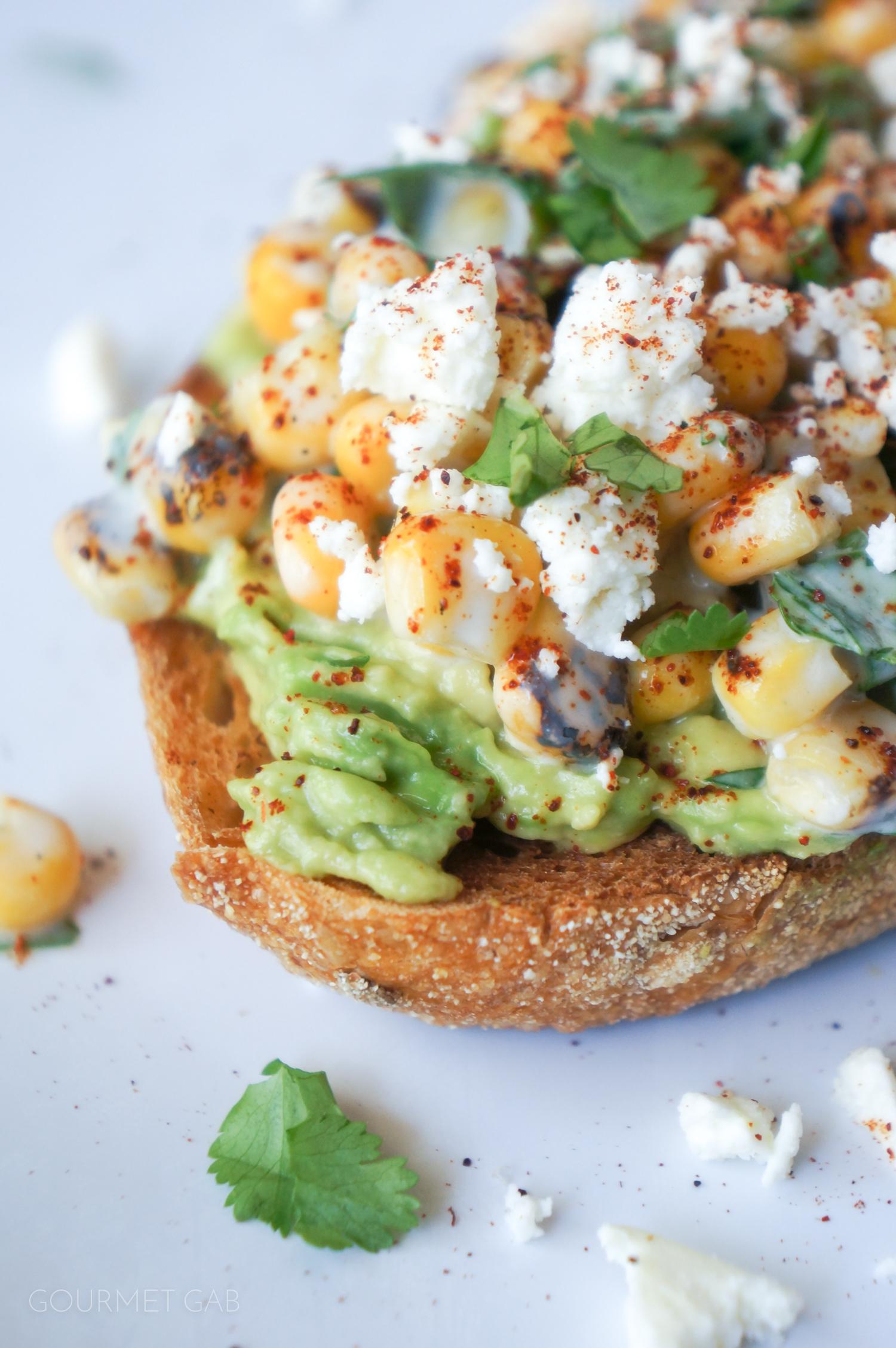 Mexican Street Corn-Inspired Avocado Toast