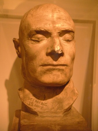 The death mask of Frederick Bailey Deeming