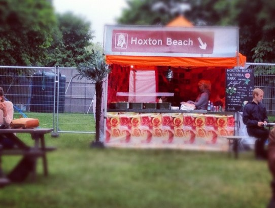 Hoxton beach food stall, field day festival