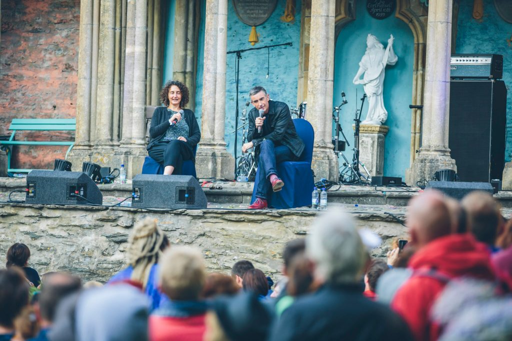 Steve Coogan at the piazza