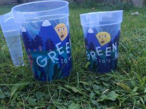 Green Man 2016 cups