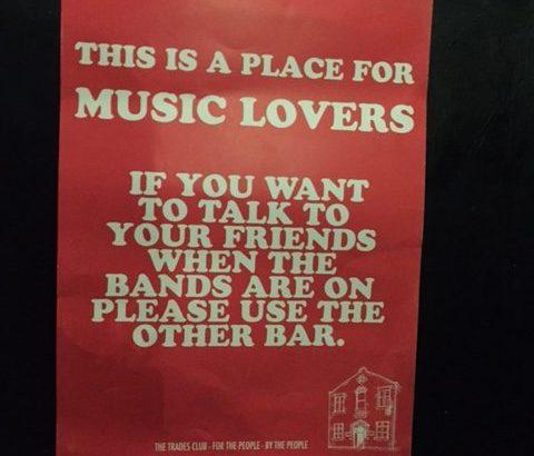 Poster at The Trades Hebden Bridge