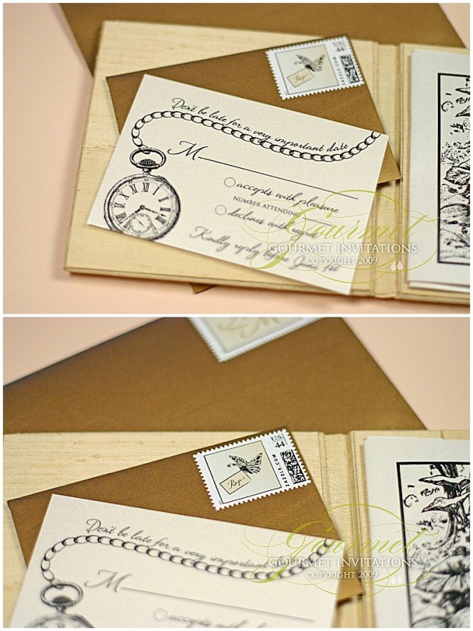 Alice In Wonderland Invitations Gourmet