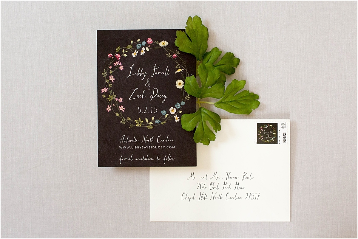 boho chic save the date