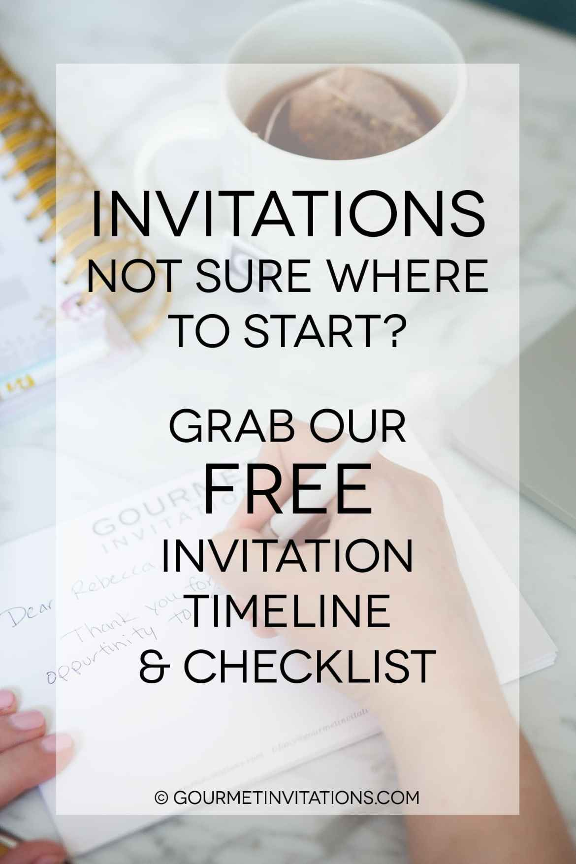 Invitation timeline