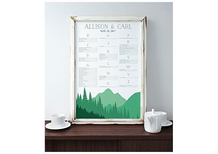 seating chart with mountain