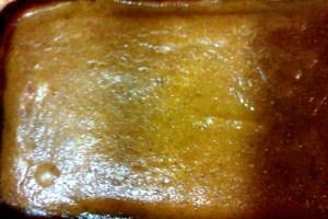 Tarta de calabaza recién salida del horno