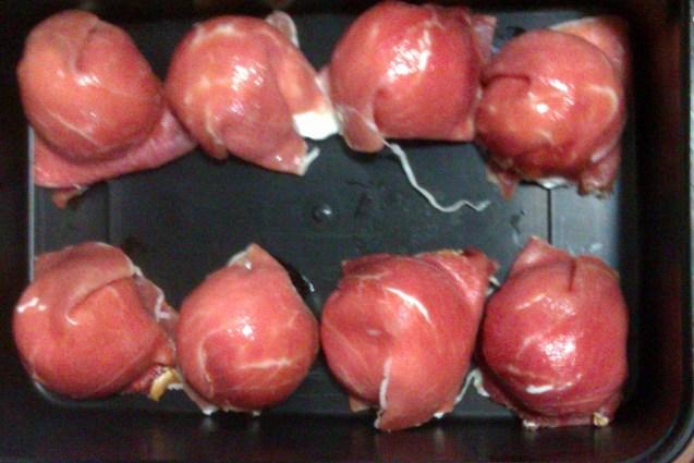 Canapés de jamón serrano