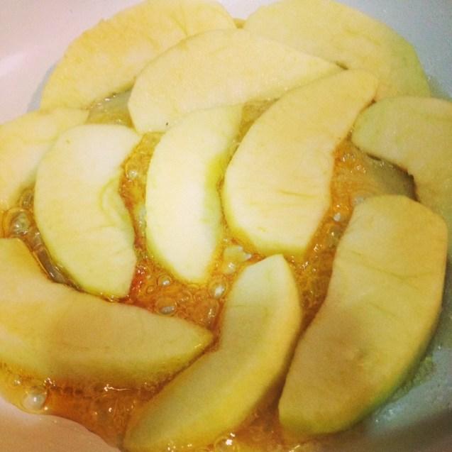 Receta de manzana caremelizada