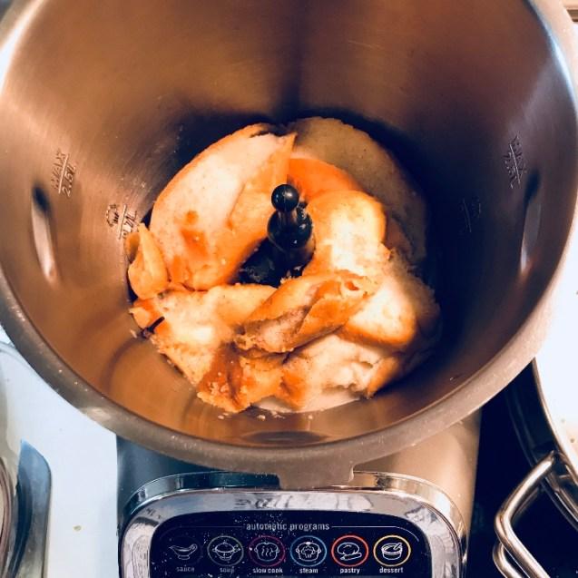 paso a paso mousse de torrijas en sifón de cocina