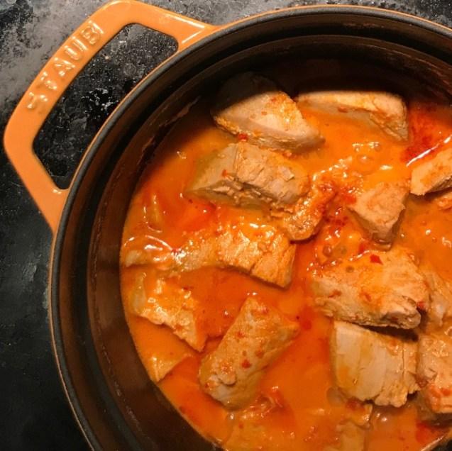 receta atun en mojo rojo hervido canario