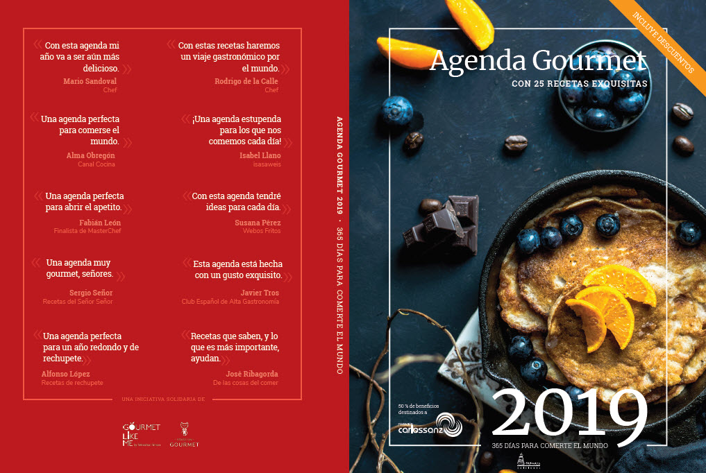 AGENDA GOURMET 2019 CON ENVÍO GRATIS