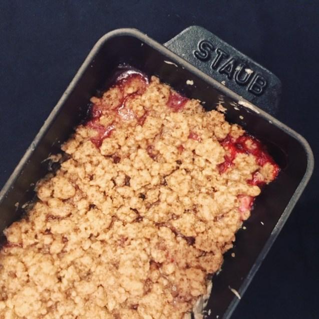 receta crumble de fresas
