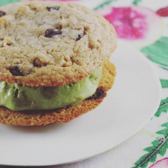 sandwich cookies rellenas helado