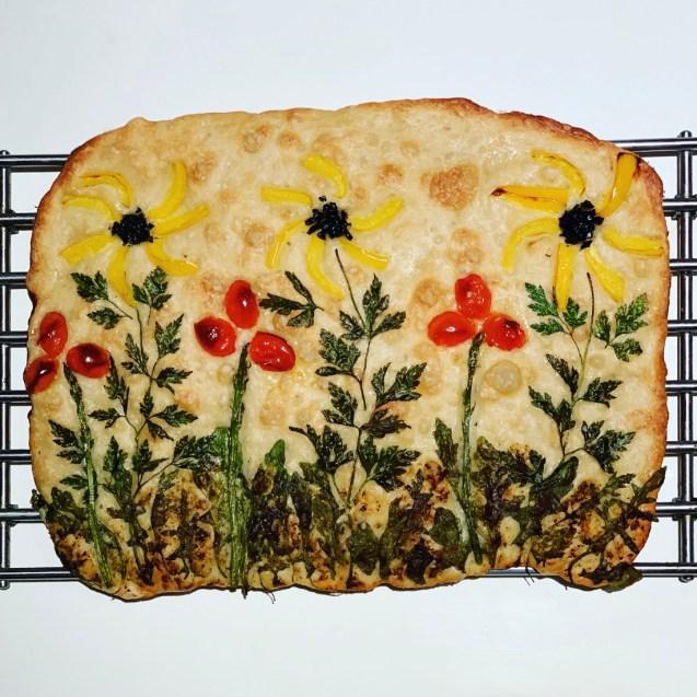 garden focaccia receta