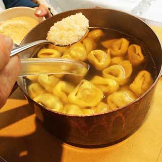 tortellini in brodo with parmesan