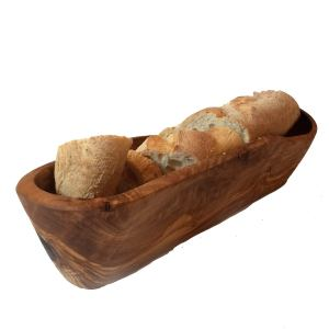 Rustic Wood Bread Basket