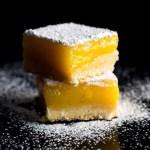 Lemon bars with Extra Virgin Olive Oil