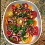 Heirloom Tomatoes with Herbs and Almond Vinaigrette