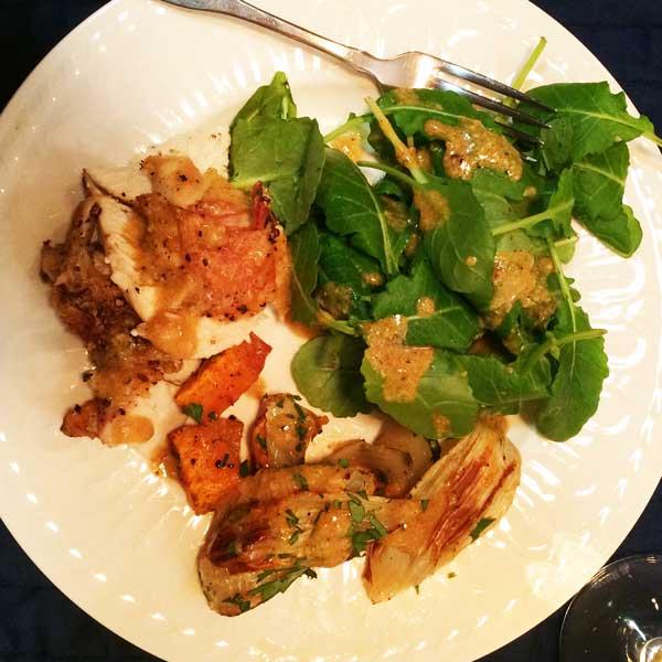 roast chicken and sweet potatoes recipe