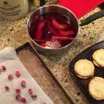 Making Delia's Cranberry Jellies