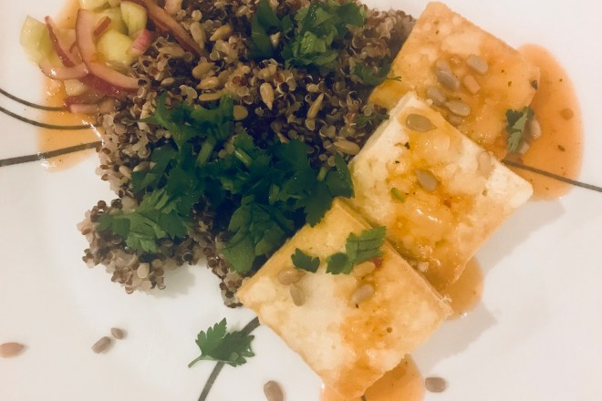 Crispy Tofu with Quinoa