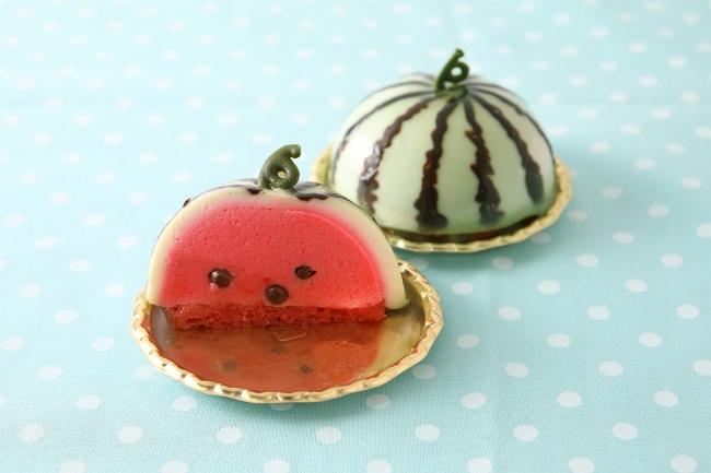 京都「パティスリー洛甘舎」から「西瓜」のお菓子が新発売