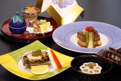 「鮑」と「牛ステーキ」のダブルメイン! 東京・昭島市の会席料理店「昭和の森 車屋」が、8月限定の夏会席コースをご用意します