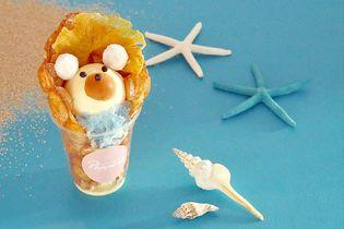 夏限定!名古屋のワッフルアイス専門店「Popping Waffle」から 食べ歩きができるキュートな『白くまワッフル』を8月1日発売