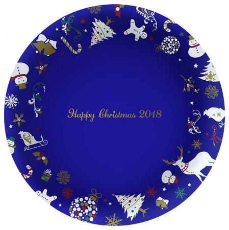 2018年クリスマス絵皿