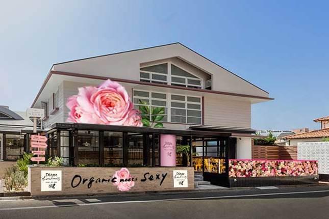 希少なバラ「ローズ・ド・メイ」が堪能できる上品で贅沢な空間  用賀にダイアンボヌールの期間限定カフェがオープン
