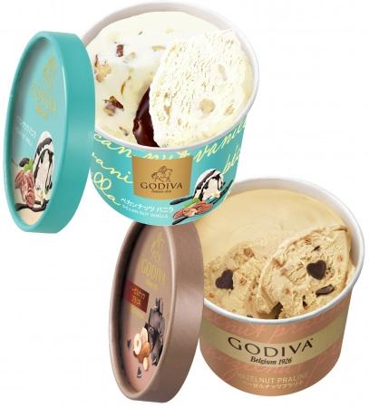 上質で贅沢なゴディバのカップアイスに新フレーバーがコンビニエンスストアに登場!ゴディバ カップアイス「ペカンナッツバニラ」「ヘーゼルナッツプラリネ」