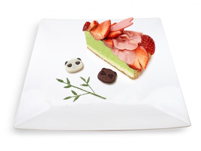 カフェコムサ上野松坂屋店限定プレート!カバヤ食品「さくさくぱんだ」とコラボした「いちごと桜のケーキ」発売