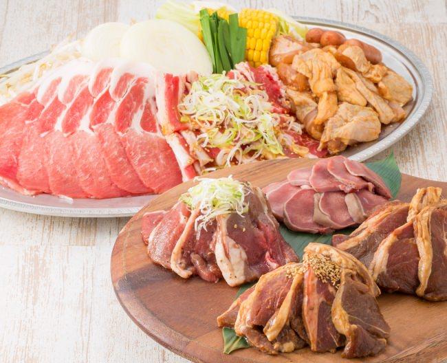 7種のお肉バーベキュー120分食べ飲み放題
