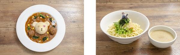 ▲左/アリス&ボコカレー▲右/あんこうチームの鶏スープつけ麺