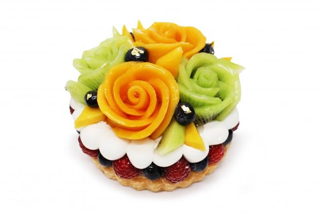 [父の日限定ケーキ]マンゴーとキウイの花束のケーキ