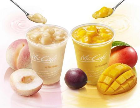 夏到来!ごろっと果肉が入ったスムージー 「桃のスムージー」 「マンゴー&パッションフルーツスムージー」