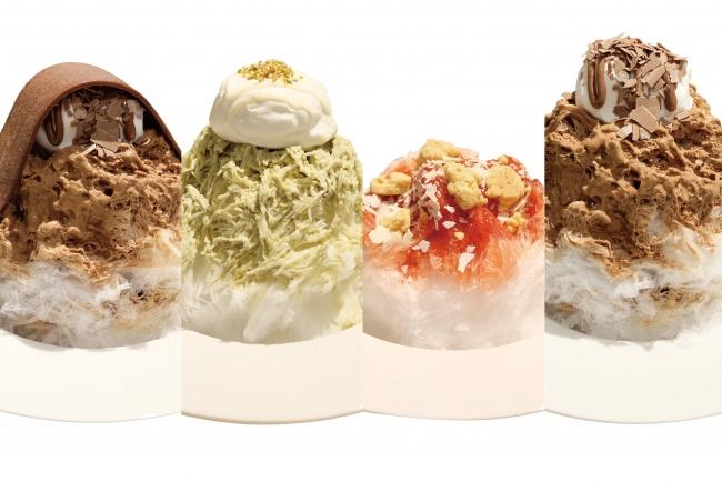 【ボンヌカフェ】大きな生チョコの板を豪快にのせる、新感覚で楽しいかき氷?!