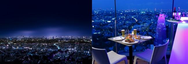 天空ビアテラスでハワイ気分!東京の観光名所を一望出来る都内屈指のオープンテラスで。