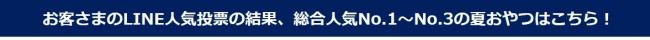 """「錦糸町テルミナ""""夏おやつ選手権""""」人気No.1夏おやつ決定!"""