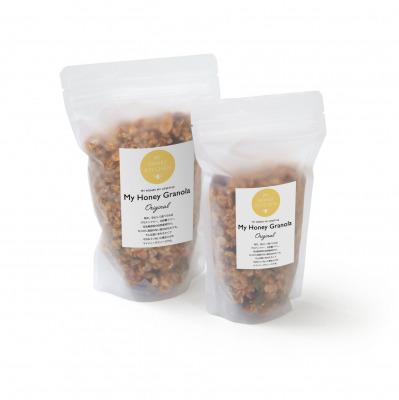 砂糖不使用、グルテンフリー、甘さは低GIの生はちみつだけ。有機オートミールやナッツをたっぷり使用したシリアル『MY HONEY GRANOLA(マイハニーグラノーラ)』を2019年8月30日に新発売