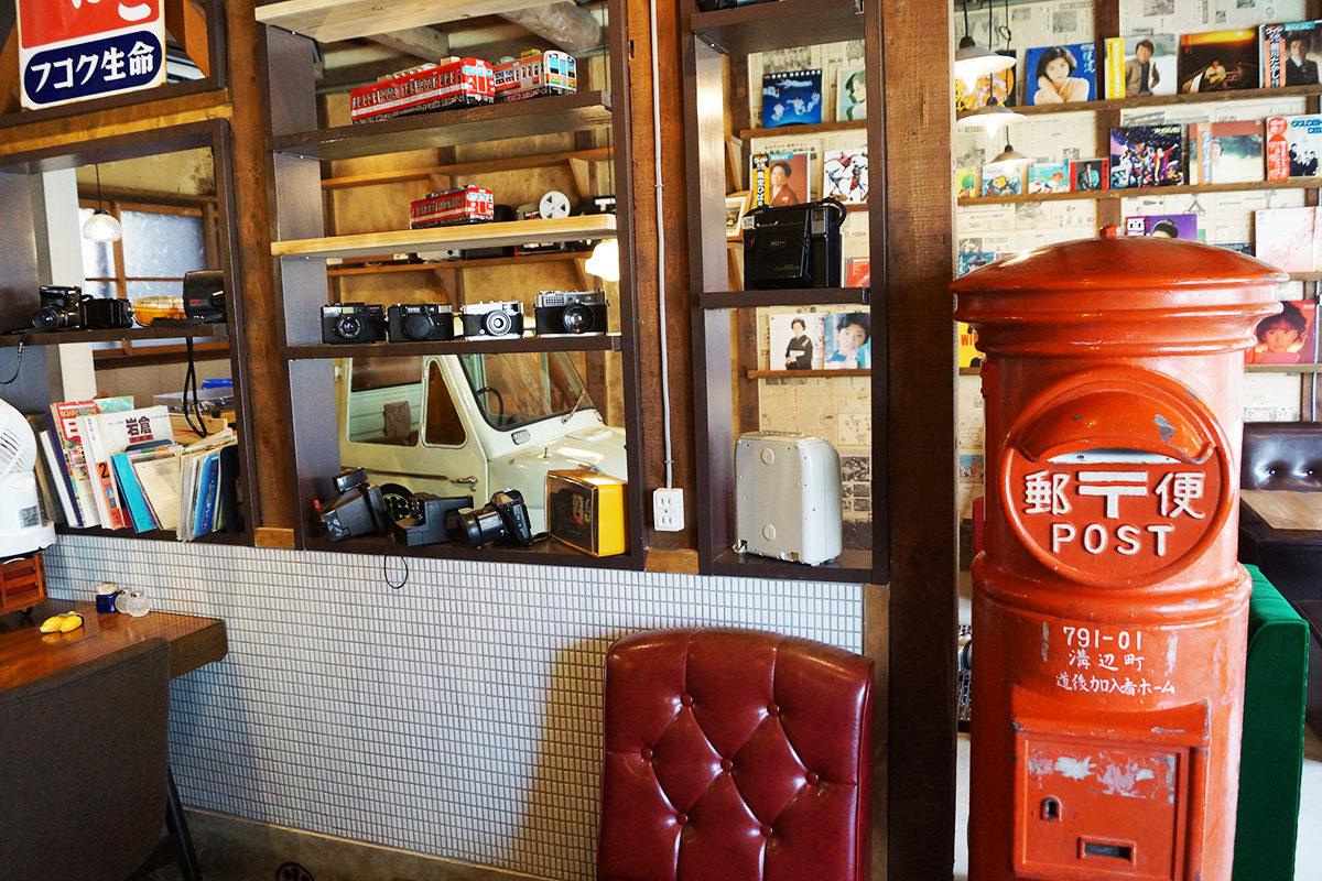 バナナジュースカフェ「タイムスリップカフェ OLD WAYS 三丁目の米乃家」内観