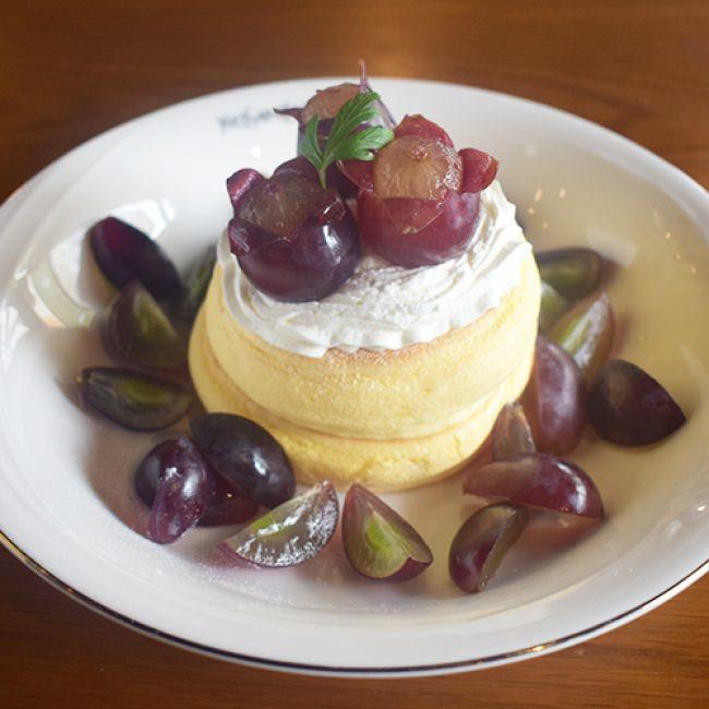 「葡萄のふわふわパンケーキ」