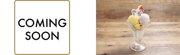 ▲マーリンのロールケーキプレート/▲藤丸とマシュのマンゴーベリーパフェ
