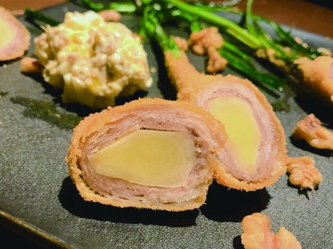 出西生姜の肉巻き揚げ カルフォルニアくるみのタルタルソース