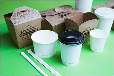 東洋プラスチックス (株) バイオPBSコーティング紙容器
