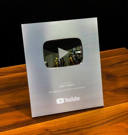 カクテルメイキング動画のプラットフォーム BAR TIMES チャンネルが、YouTube のシルバークリエイターアワードを受賞。